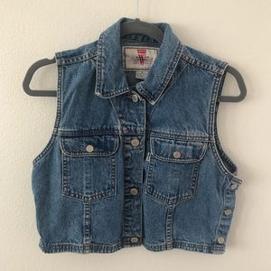 Vintage Levi's Blue Denim Trucker Vest